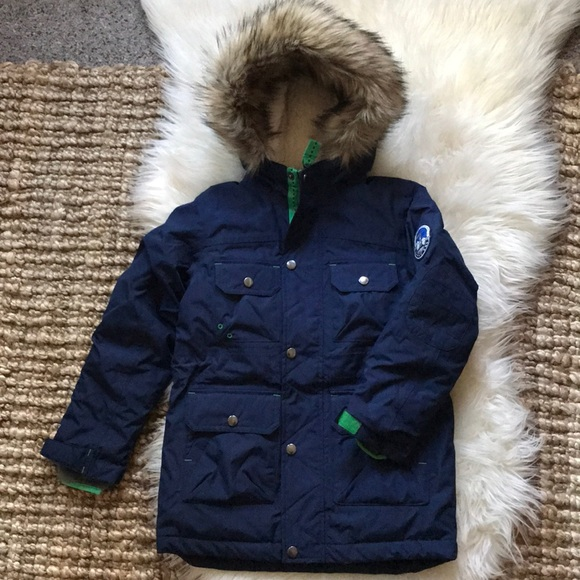 63bcef1455a Lands' End Jackets & Coats | Lands End Boys Expedition Parka Sz M 56 ...